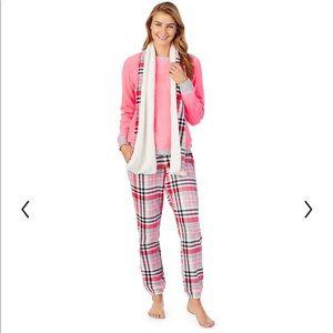 Plus Size Cuddl Duds Coral 3 Piece Pajama Set